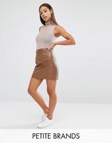 Boohoo Petite Leather Look Mini Skirt