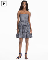 White House Black Market Petite Strapless Tiered Dress