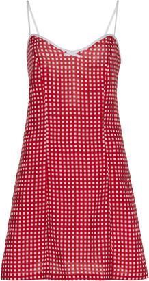 Miguelina Nadine Gingham Linen Mini Dress