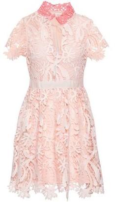 Maje Guipure Lace Mini Dress