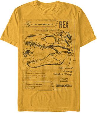 Fifth Sun Men's Tee Shirts GOLD - Jurassic World Gold T-Rex Schematic Tee - Men