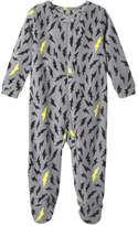 Joe Fresh Baby Boys' Micro Fleece Sleeper, Smoke (Size 0-3)