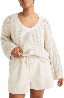 Madewell Rainbow Marled Seville Pullover Sweater