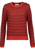 Carven Glittered Striped Wool-Blend Sweater