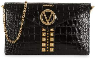 Mario Valentino Valentino By Brienne Croc-Embossed Leather Clutch