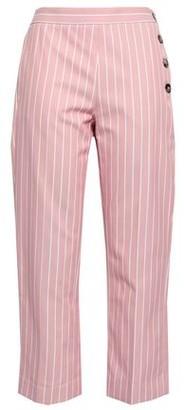 Victoria Victoria Beckham Victoria, Victoria Beckham Cropped Pinstriped Cotton-twill Straight-leg Pants