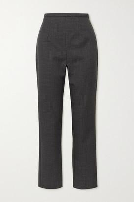 Totême Saze Houndstooth Wool Skinny Pants - Gray