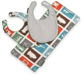 DwellStudio Transportation Baby Bibs and Burp Cloth