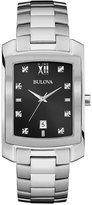 Bulova Men's Diamond Accent Stainless Steel Bracelet Watch 31mm 96D125