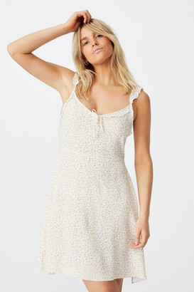 Cotton On Woven Quinn Ruffle Strap Mini Dress