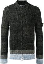 Stone Island ribbed knit cardigan