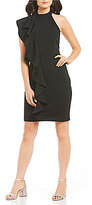 GB Architectural Ruffle Sheath Dress