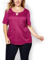 Penningtons Shaped Fit Lace Front T-Shirt
