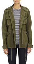 Barneys New York Women's Canvas Army Jacket-GREEN