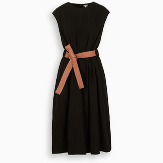 Loewe Black dress with leather belt