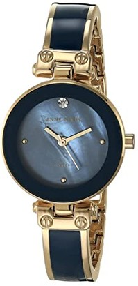 Anne Klein Diamond Dial Bangle Watch (Blue/Gold-Tone) Watches