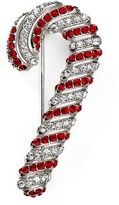 Nadri Jolly Red Candy Cane Pin