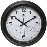 Infinity Instruments Hygrometer Indoor/Outdoor Clock - Black