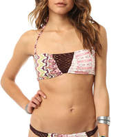 O'Neill Women's Bahia Bandeau - Grapefruit Bikini Tops