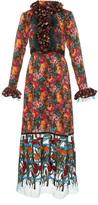Anna Sui Apple Blossoms and Rosebud midi Dress