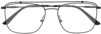 aviator-style logo glasses
