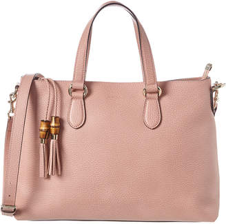 Gucci Pink Leather Top Handle Tote
