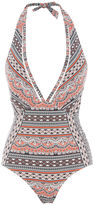 Oasis Printed Plunge Swimsuit