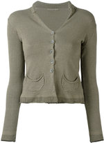 Transit - patch pocket cardigan - women - Linen/Flax/Viscose/Cotton/Spandex/Elastane - 1