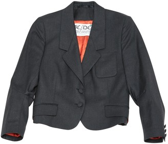 JC de CASTELBAJAC Anthracite Wool Jacket for Women