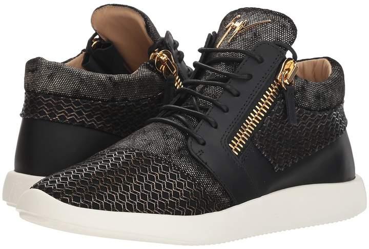 Giuseppe Zanotti Singles Cupsole Mixed Texture Mid Top Sneaker Men's Shoes
