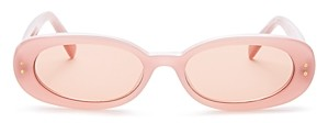 Le Specs Luxe Women's The Outlaw Oval Sunglasses, 51mm