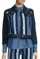 Tommy Hilfiger Stars & Stripes Patchwork Cropped Jacket