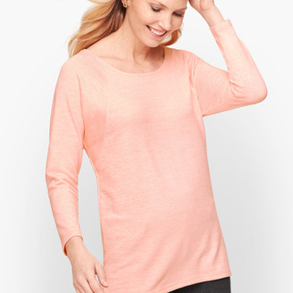 Talbots Twist Back Heathered Pullover