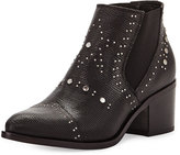 Andre Assous Frankie Embossed Leather Bootie, Black