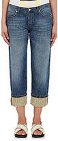 Marni Women's Cuffed Boyfriend Jeans-BLUE