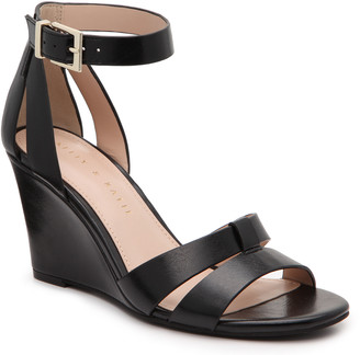 Kelly & Katie Women's Heister Wedges Sandals Black Size 5 Faux Leather From Sole Society