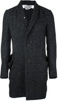 Individual Sentiments woven shawl collar jacket - unisex - Cotton/Sisal/Mohair/Wool - 2