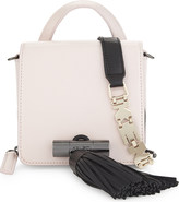 Kenzo Ladies Faded Pink Tassel Leather Shoulder Bag