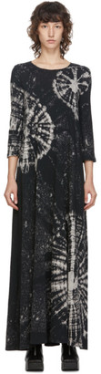 Raquel Allegra Black Tie-Dye Long Dress