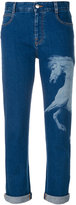 Stella McCartney horse printed boyfriend jeans - women - Cotton/Polyester/Spandex/Elastane - 26