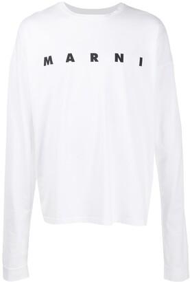 Marni logo print long sleeve T-shirt