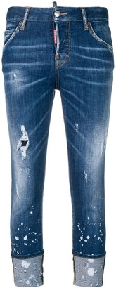 DSQUARED2 Distressed Turn Up Jeans