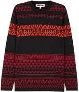 Mcq Alexander Mcqueen Black Geometric-intarsia Wool Jumper