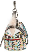 Fendi Women's 'Granite' Genuine Fox & Nutria Fur Trim Backpack Bag Charm - Blue