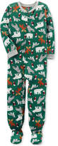 Carter's 1-Pc. Animal-Print Footed Pajamas, Little Boys & Big Boys