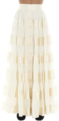 Zimmermann Sabotage Ribbon Stripe Maxi Skirt