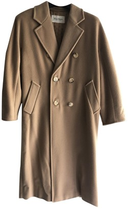Max Mara 101801 Beige Wool Coat for Women
