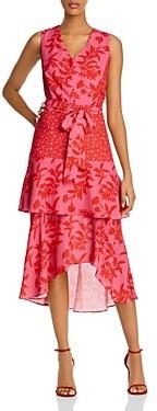 Sam Edelman Botanical Tonal-Tiered Dress