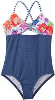 Splendid Girls' Full Bloom One Piece Swimsuit (4yrs6X) - 8140956