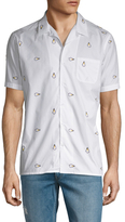 Fendi Light Bulb Spread Collar Sportshirt
